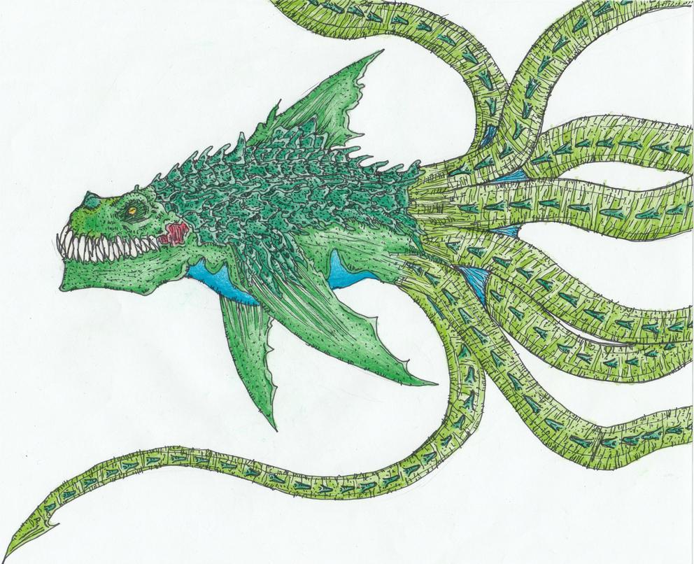 Request - Dinosharktopus by Sylizar