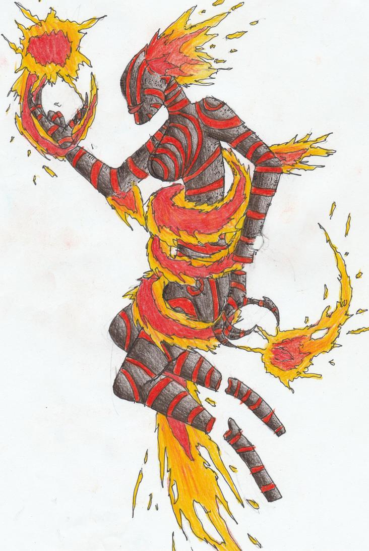 Mahatari, The Fire Spirit by Sylizar