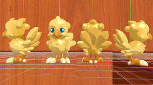 Baby Chocobo Model DL by ani-cat-candy