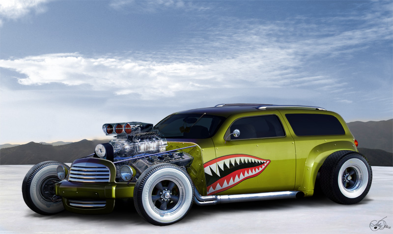 LadyDeuce Rat Rod Art