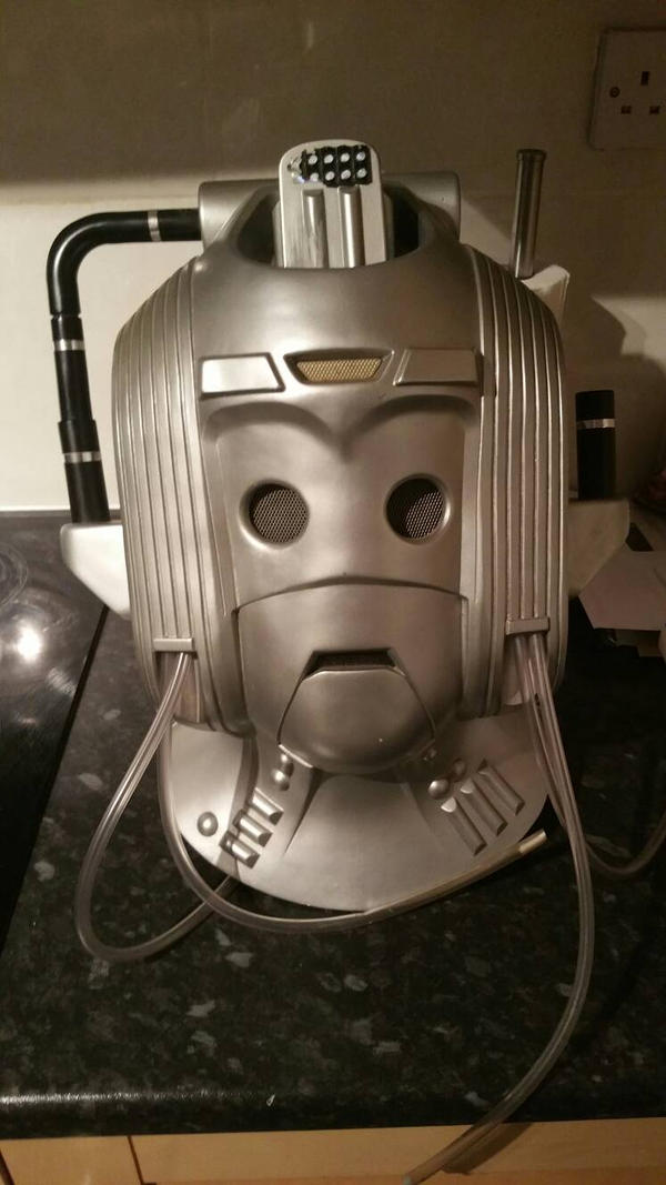 Cyberleader cyberman helmet head  by Hordriss