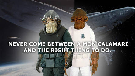 Ackbar and Raddus, heroes of the rebellion.