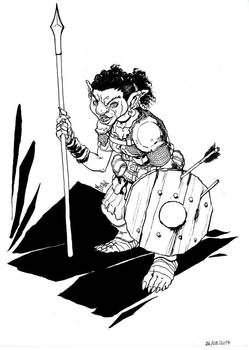 Female Goblin Fighter
