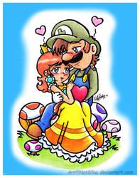 LuigixDaisy: A heart for you by NatSilva