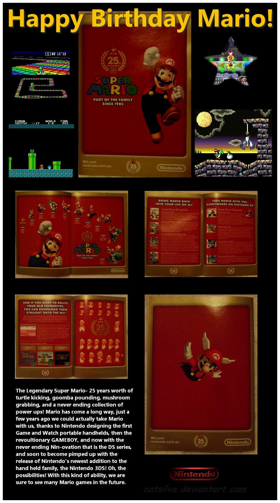 Mario:25 years of gaming by NatSilva
