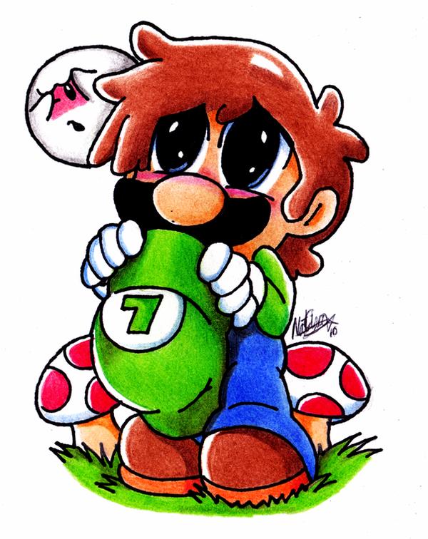 Chibi Luigi by NatSilva
