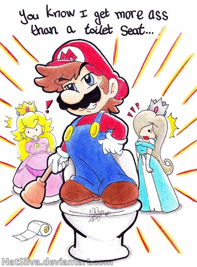 Mario- Potty Mouth by NatSilva