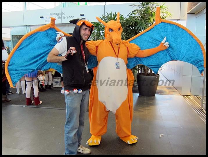Avcon 2013- Pokemon Trainer and Charizard by NatSilva