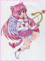 Chibi Neko Cupid Girl by NatSilva