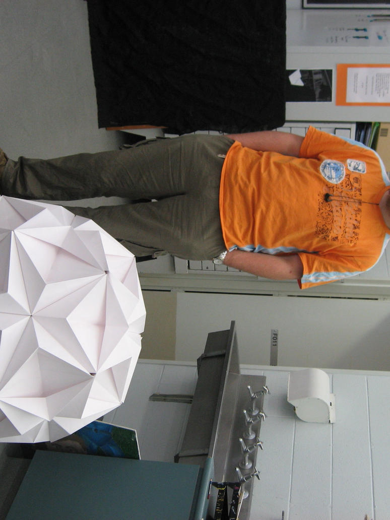 It's me and my kusudama by Mr-Orange-Bob