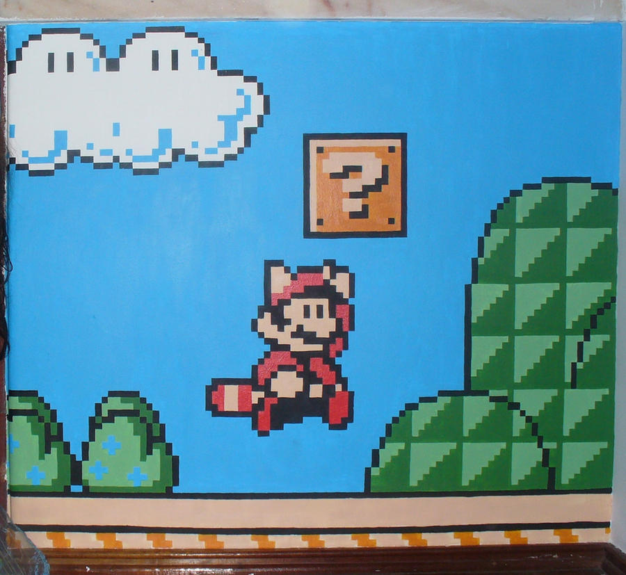 Mario mural by Lena-LU
