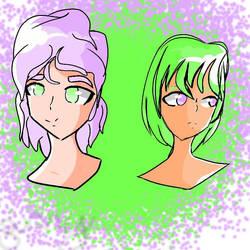 [OCS] Ava and Erin by iBunzaiii
