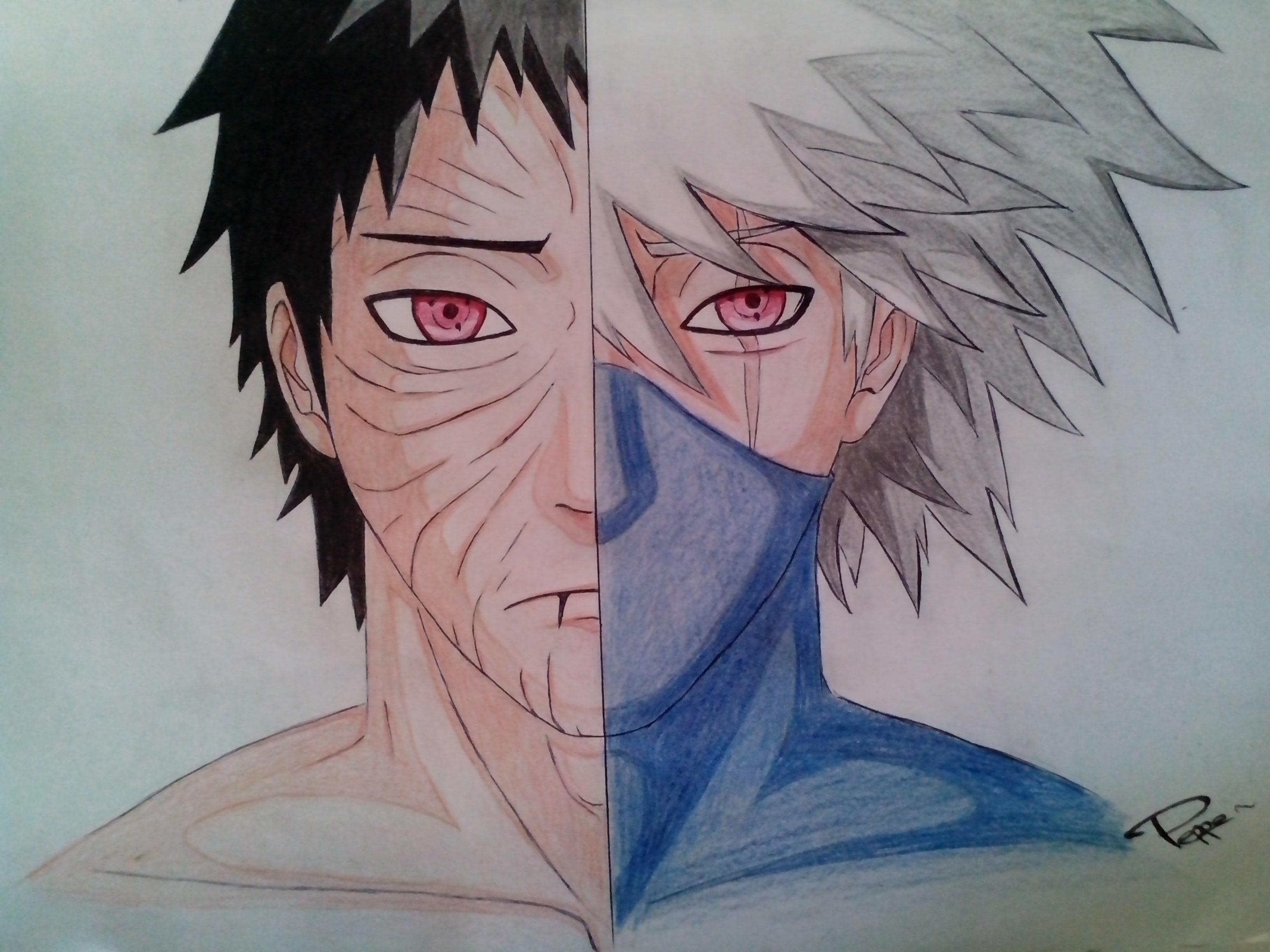 Obito / Kakashi - Same eyes, different sides by Piepzz on ...