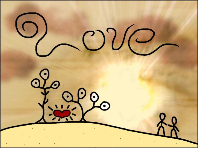 Stickpeople Love by necron