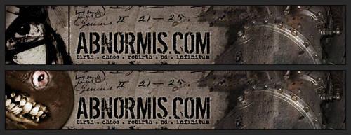 Abnormis Header Series by necron