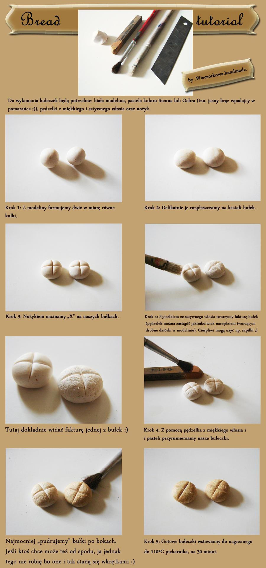 Fimo Bread tutorial by Wieczorkowa