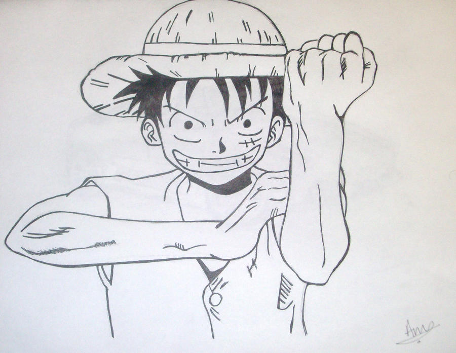 Luffy By Andrew-Sketches On DeviantArt