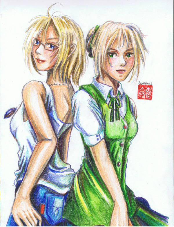 APH Fem- America and England by Aquarina12