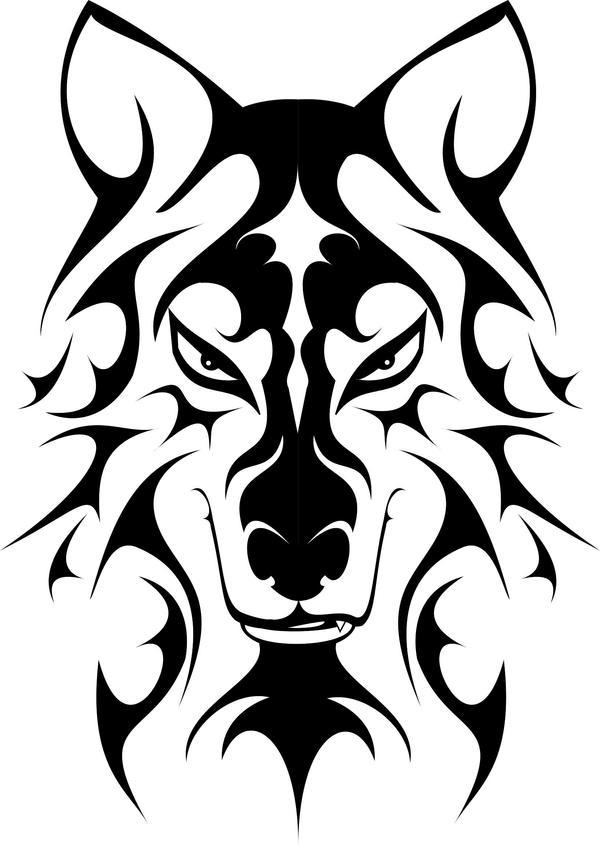 Tribal Wolf Logo by juanim91 on DeviantArt