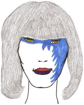 Kizz'Laa with blue face