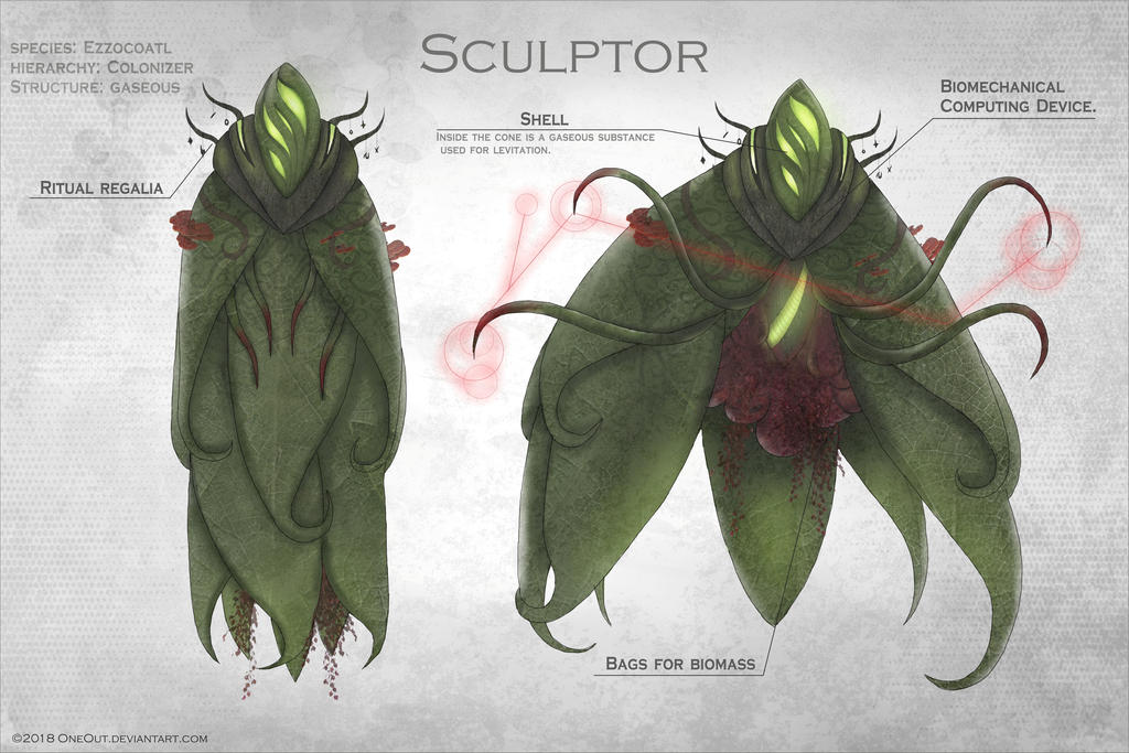 Xenobiology: sculptor by OneOut