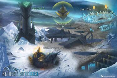 Map 4: Retreating Glacier