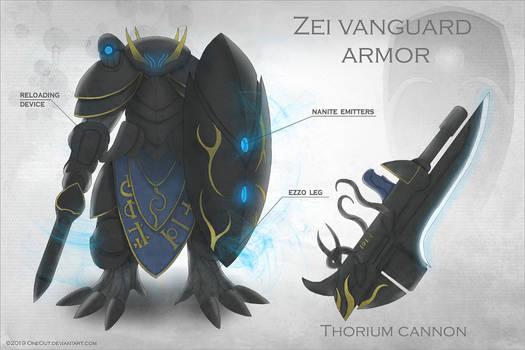 Concept art: Zei vanguard armor