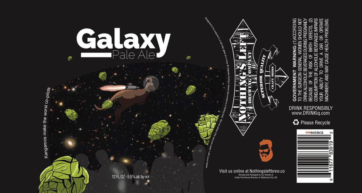 Nothings Left Brewing Co. - Galaxy Pale Ale Label by Zephroth
