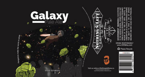 Nothings Left Brewing Co. - Galaxy Pale Ale Label