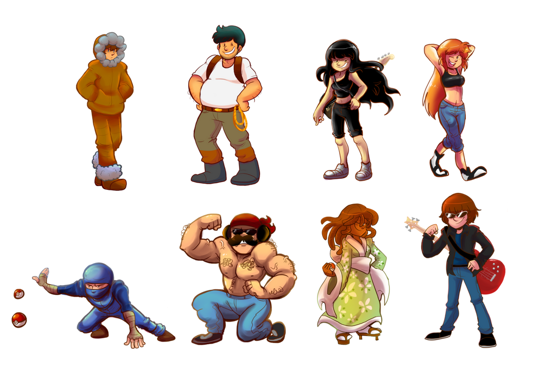 Commission: Gym Leaders by verna-c