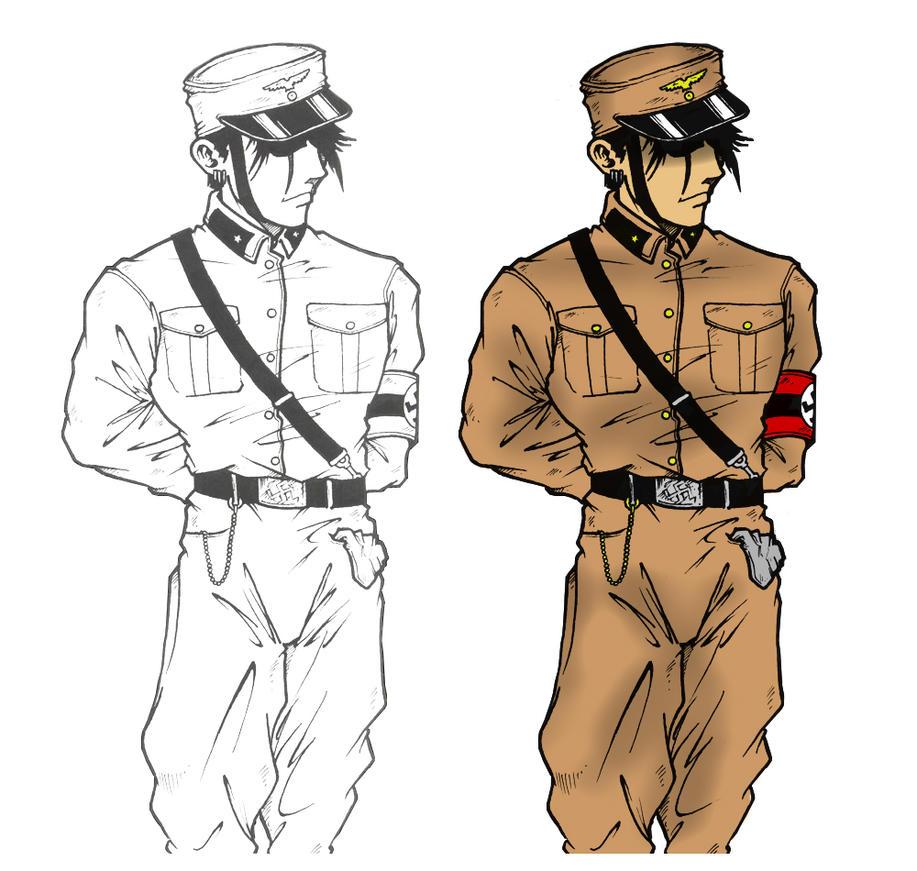 Line Art Uniform : Nazi uniform cg by mdk on deviantart