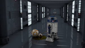 R2D2 Pissing on BB8