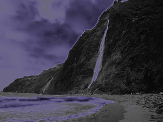 Kaluahine Waterfall, Waipio Valley, Hamakua Coast,
