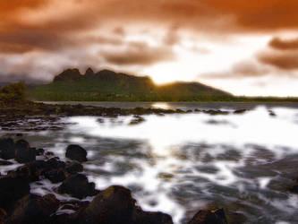 Island Seascape, Kauai, Hawaii