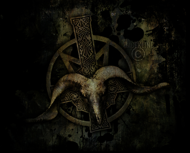 satanic goat head cross by xXxNewCultQueenX on DeviantArt