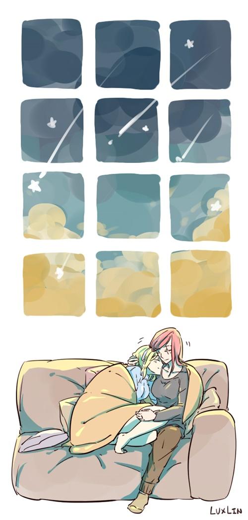 Starry sky by Shocolad