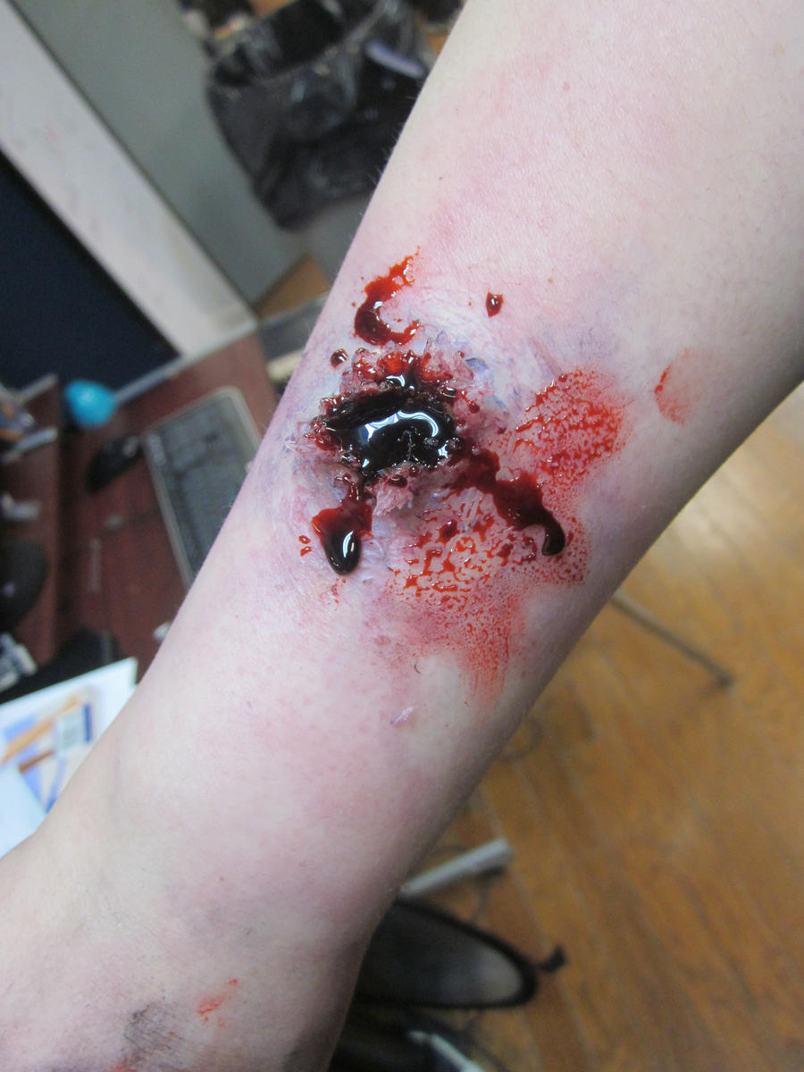 how to make a bullet hole with liquid latex