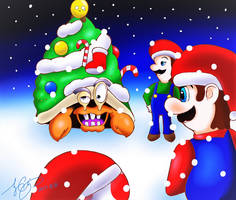 Mario Christmas! (Part 2) by 7colors0