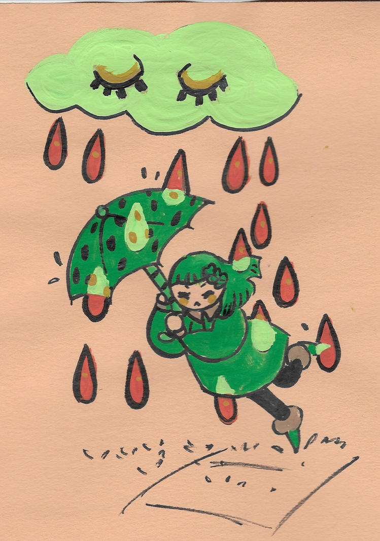 raindrops falling on my head by iiyalovestobite