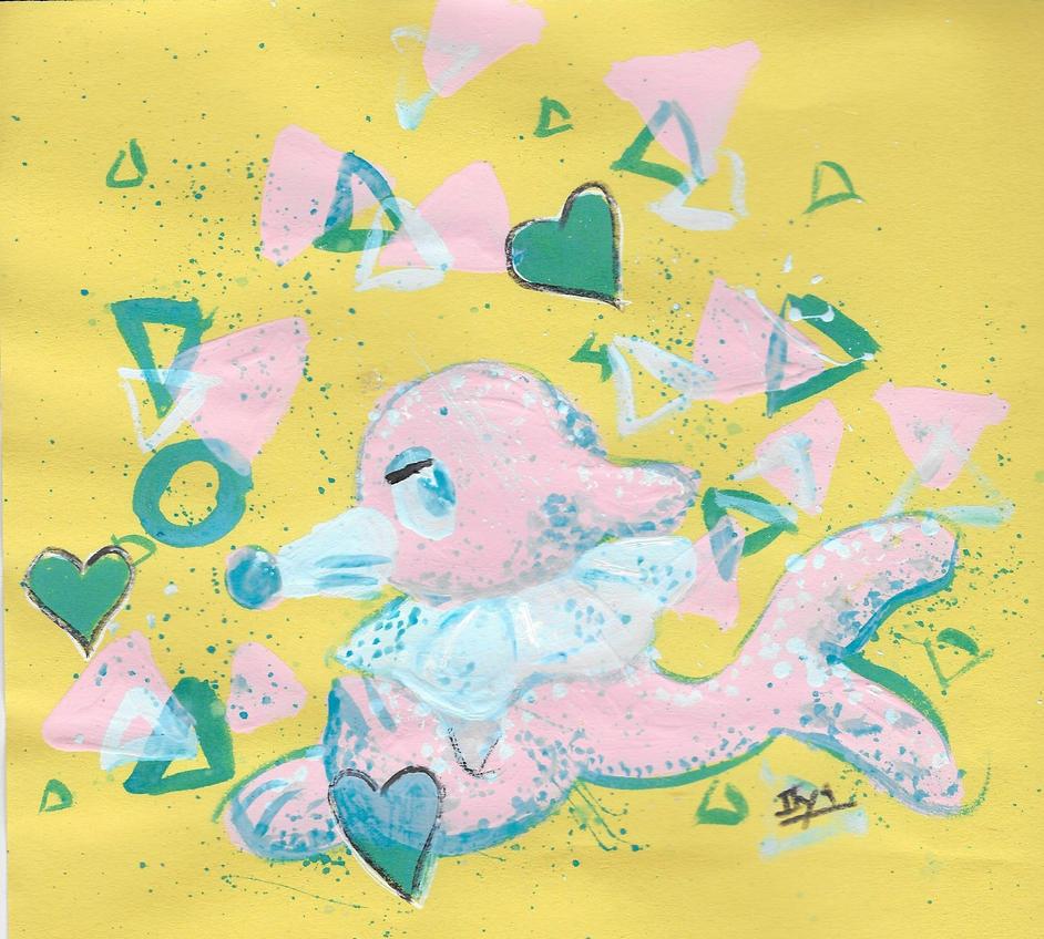 pink popplio by iiyalovestobite