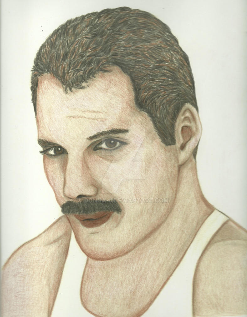 Freddie Mercury Portrait Color