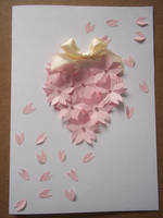 Cherry blossom card by Ilyere