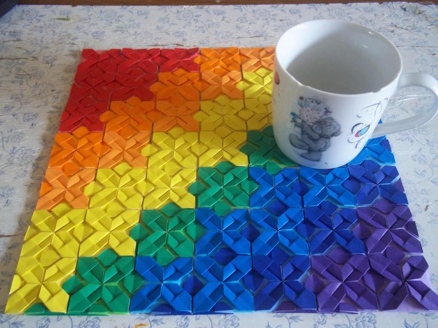 Quilt-folded placemat by Ilyere