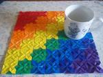 Quilt-folded placemat
