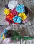 Tissue paper rose bouquet