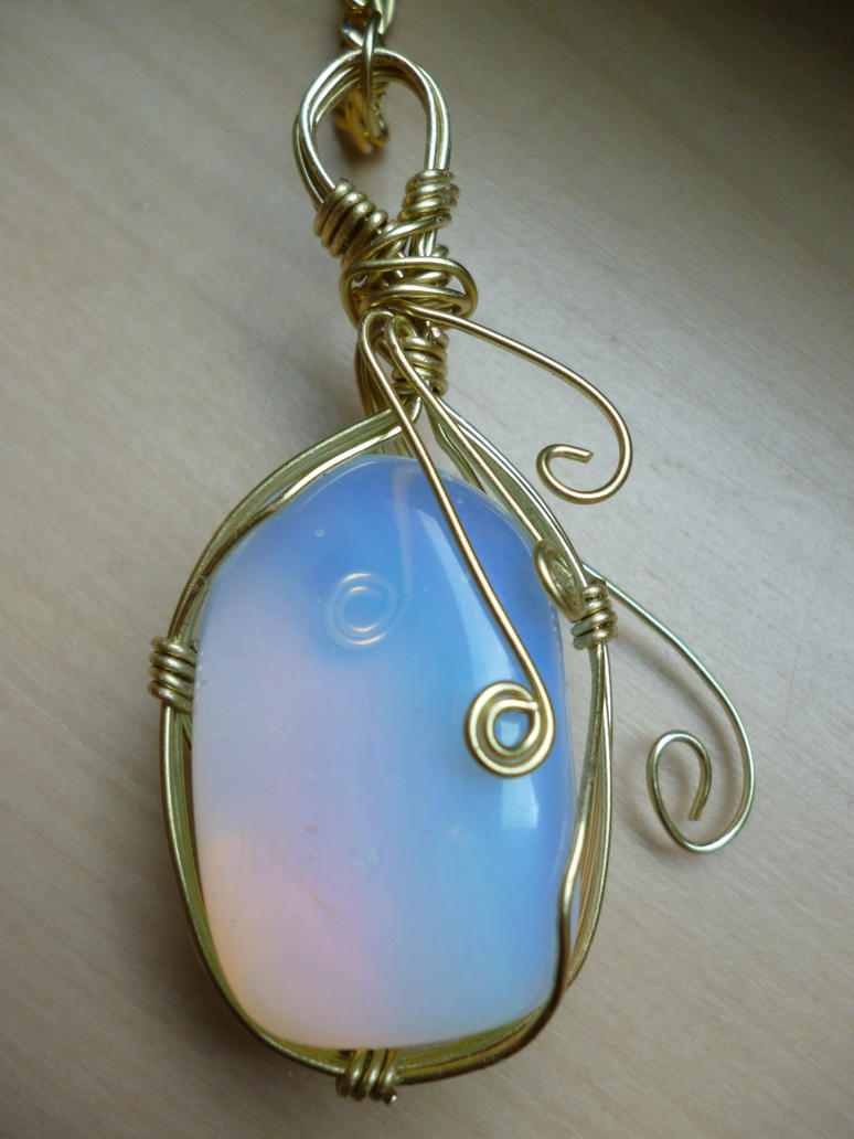 pendant healing crystal opalite products dreams navajo