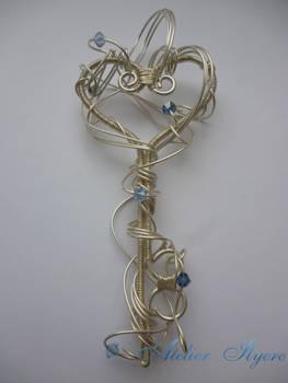 Silver wrapped key pendant