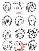 Hair styles for guys -short- by SarcasticLittleDevil