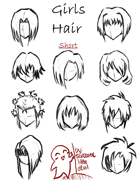 Short Anime Hairstyles Girls