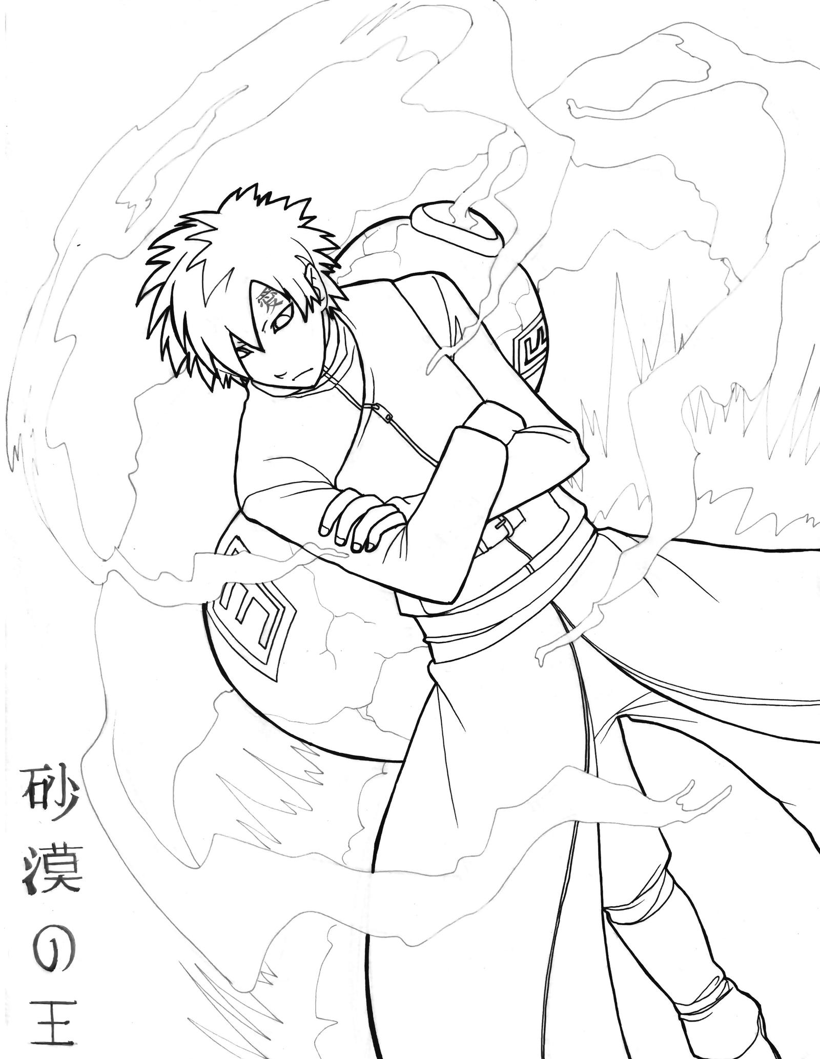 gaara coloring pages - photo#19